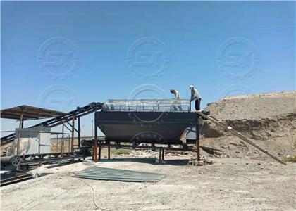 Shunxin Rotary Screening Machine at Uzbekistan project