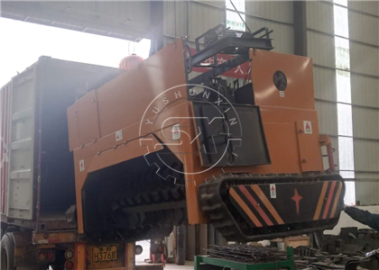 Shunxin Crawler Type Compost Turner for chicken waste delivered to Russia