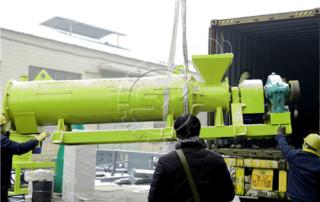 New type Organic Fertilizer Granules Manufacturing Machine delivered to Korea