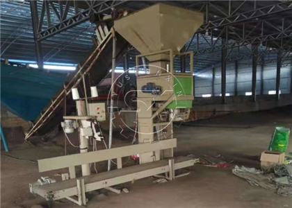 Automatic Chicken Waste Compost Packing Machine in Pakistan organic fertilizer plant