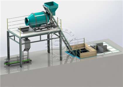 Simple and fast process for bulk blending fertilizer production