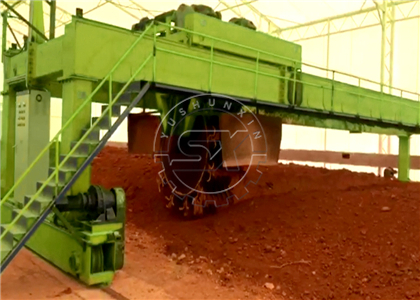 Shunxin Powerful Wheel-disc Compost Turner manages large scale composting for Ukraine project