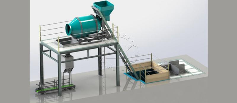 Simple and fast process for bulk blending fertilizer production