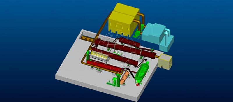 Large scale compound fertilizer production process