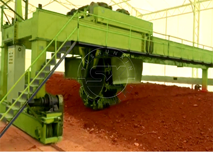 III. 3. Shunxin Powerful Wheel-disc Compost Turner manages large scale composting for Ukraine project