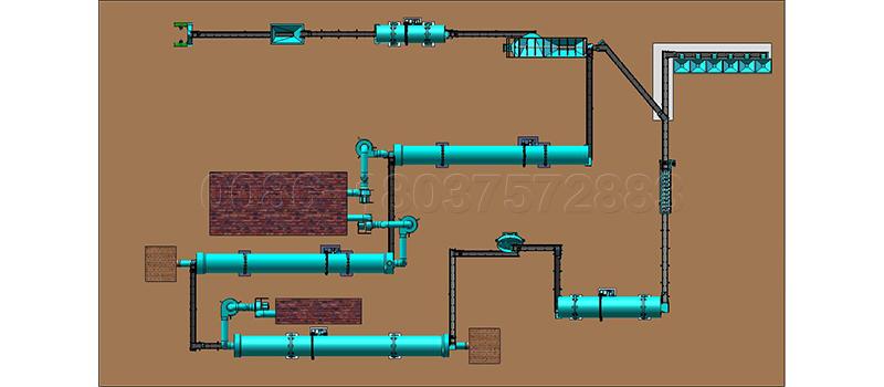 20 ton per rotary drum granulator production line