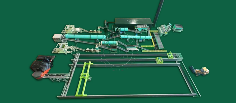 Capacity of 200,000 tons per year Organic Inorganic Fertilizer Manufacturing Line