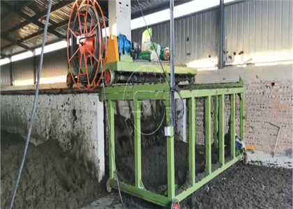 Composting process in the channel for medium capacity of raw material
