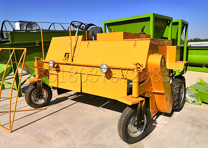 Moving type compost turner equipment for cow dung composting