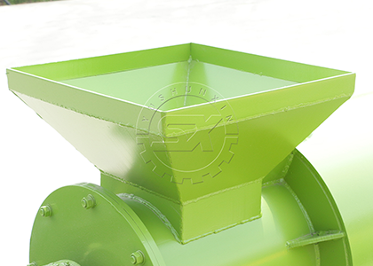 Organic fertilizer chicken manure pellet making machine raw material feeding port