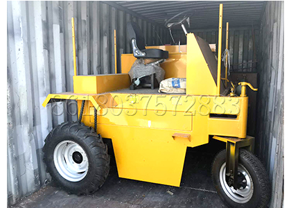 SX Small scale moving type compost turner to India