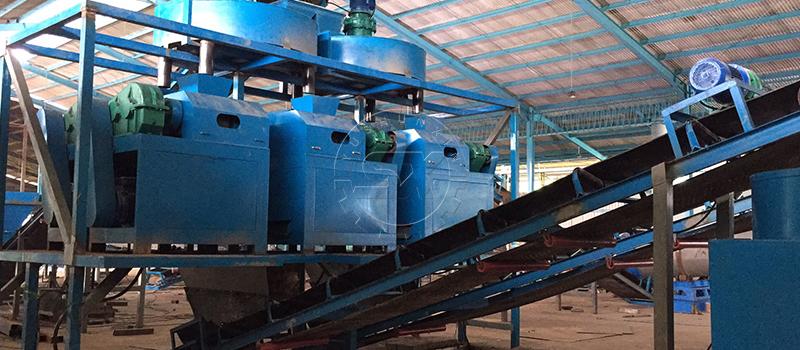 Shunxin Disc Distributors and Double Roller Granulator groups for perfect NPK fertilizer granulation