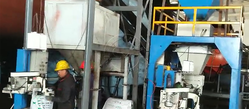 Shunxin Packing Machine on qualified NPK fertilizer pellets into bags after screened and coated