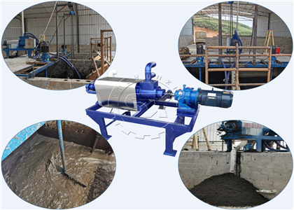 Shunxin solid liquid seperator in cow farm manure dewatering