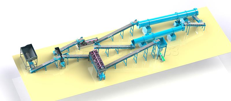 Small Scale Organic Fertilizer Production Line Design Layout