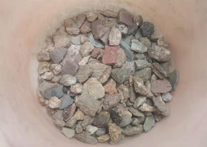 Stones screened out from the raw material in Timor Le
