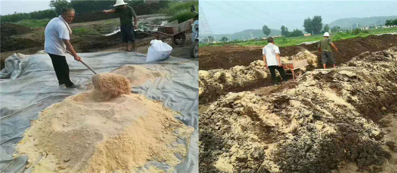 Material components mixing for bio organic fertilizer